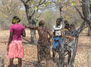 Kapika marking the new village