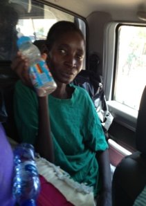 Kaputu with the empty bottle Ensure