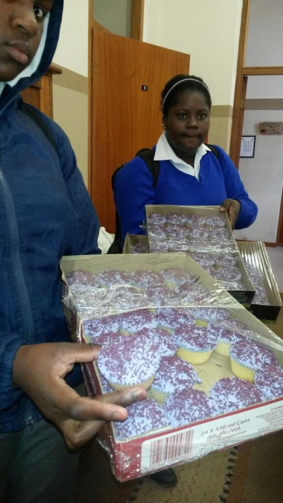 Purple Cupcakes at Namib Primary School